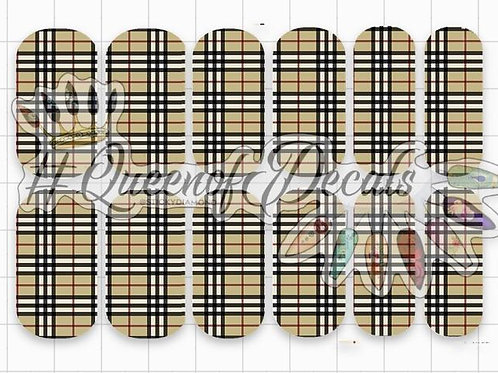 Designer Inspired Burb Checked Print Decals