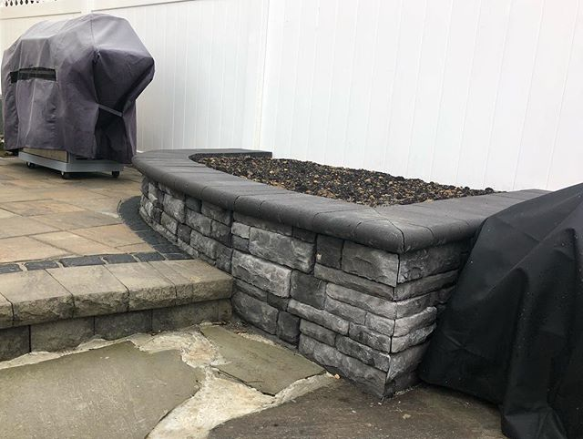 This garden retaining wall finished off