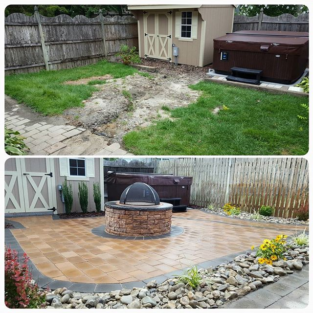 So many cuts on such a small patio, turned out well! Grade A work from the ata team! #atalawn