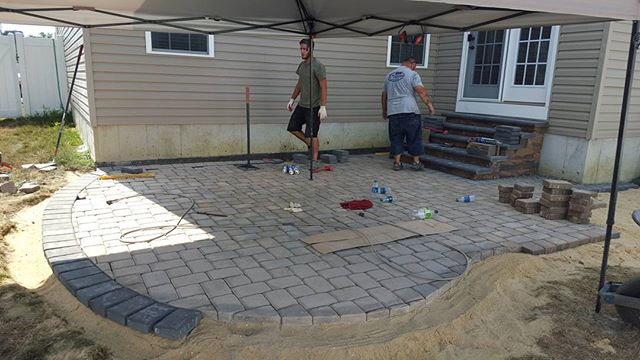 Paver patio progression! Hoping to wrap this one up tomorrow