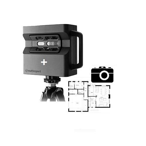 Matterport Virtuele Tour 3D + foto's + 2D grondplan