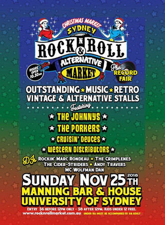 The Porkers play the Sydney Rock n Roll Alternative Markets Nov 25.