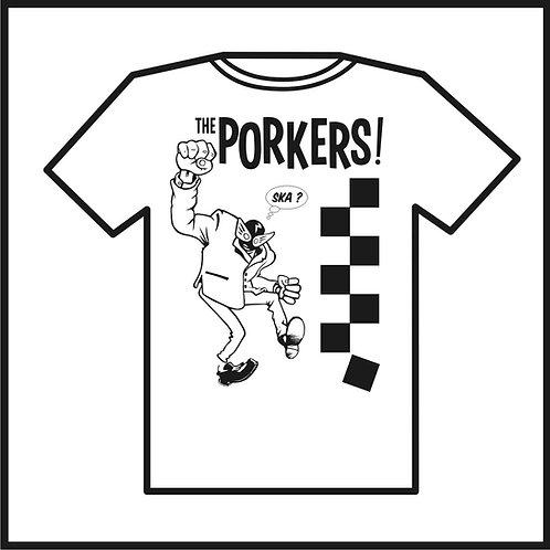T-SHIRT Porkers 'Porkman 2Tone' Ladies & Guys