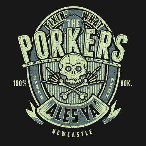 T-SHIRT Porkers 'Lager' Guys