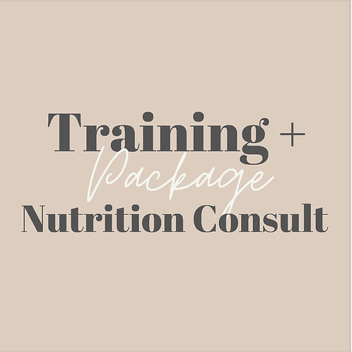 Let's GROW! Training + Nutrition Consult Package
