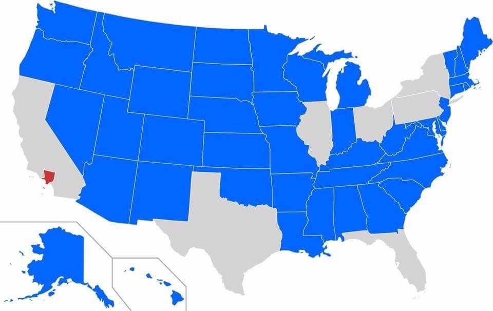 States with lower population than Los Angeles County