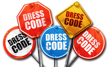 dress code, 3D rendering, street signs