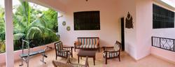 Karibuni outside porch