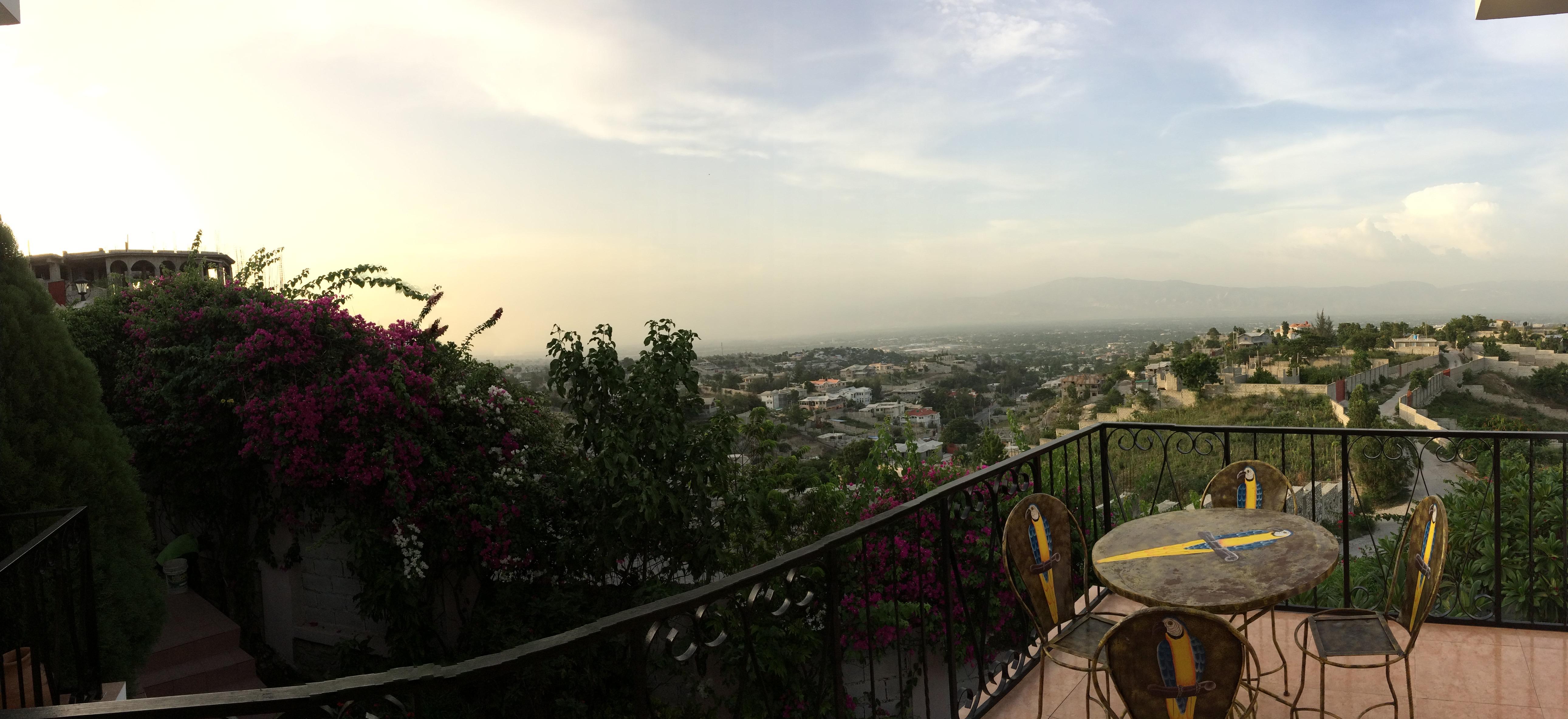 View from Karibuni in Haiti