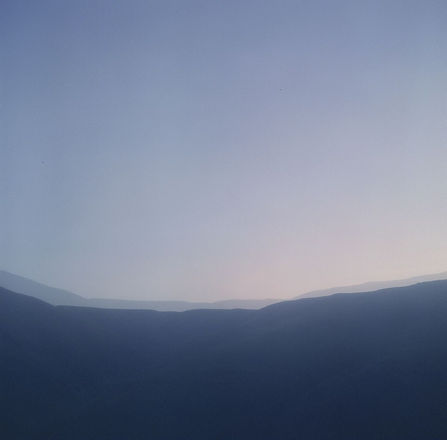 Mountain blue sunrise sunset
