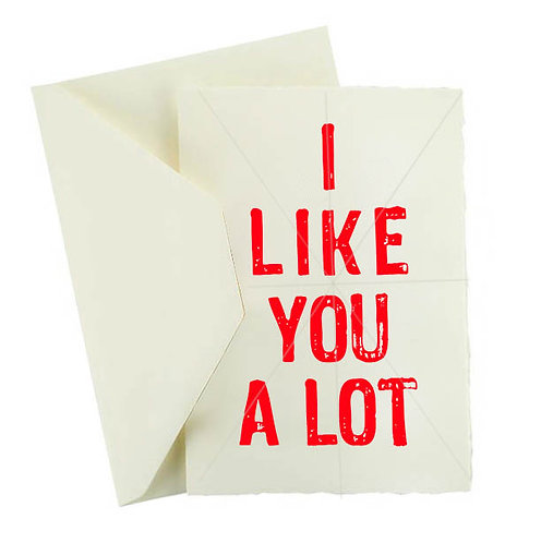 I LIKE YOU A LOT GREETING CARD
