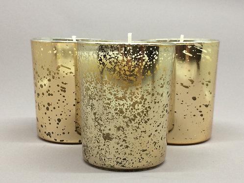Gold Leaf Mercury Glass Votive Candle