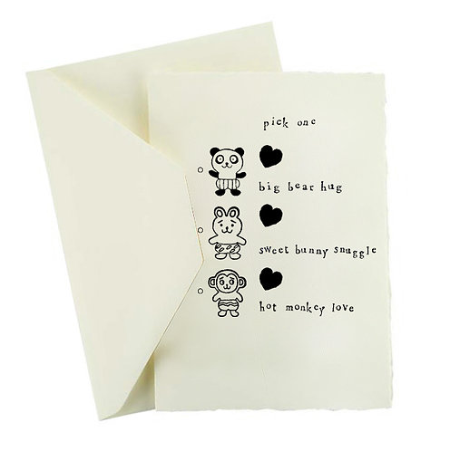 HOT MONKEY LOVE CARD