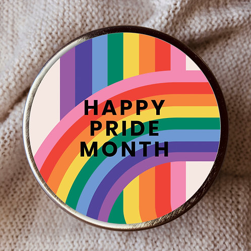 HAPPY PRIDE MONTH CANDLE TIN