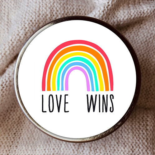 LOVE WINS CANDLE TIN