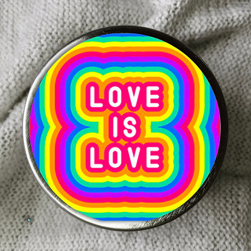 LOVE IS LOVE CANDLE TIN