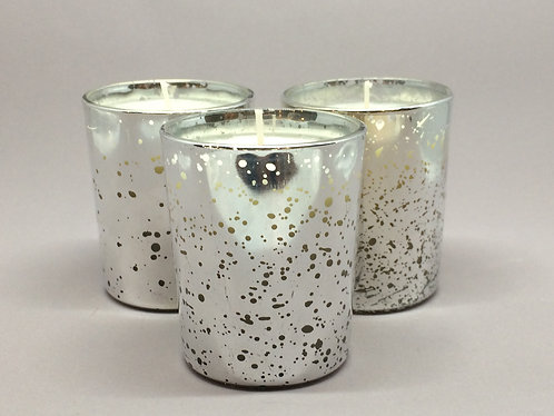 Antique Silver Mercury Glass Votive Candle