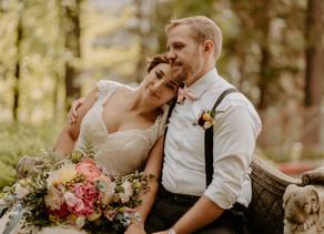 COZY NEVADA CITY WEDDING
