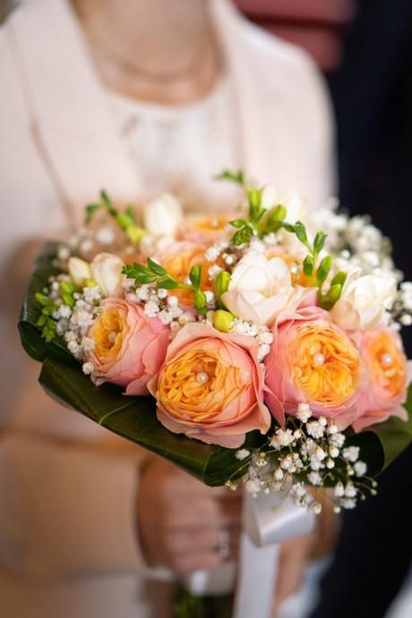 Bouquet rond de mariée De Fleurs en Couleurs