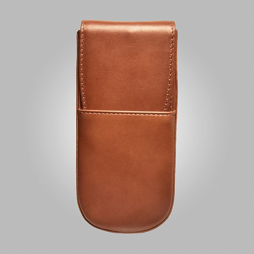 Three Pen Hand Stitched Leather Case