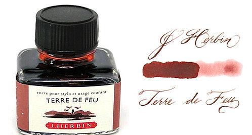 J. Herbin Bottle Ink Terre De Feu