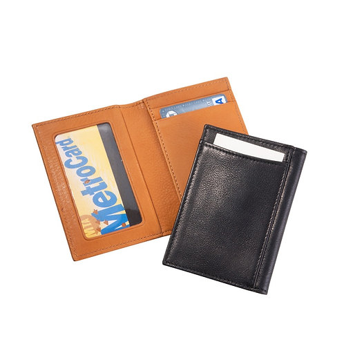 Card Case With ID Holder Traditional Leather
