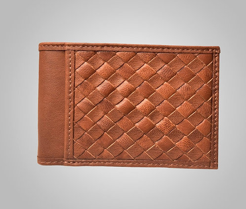 Heller Hand-Stitched Leather Wallet Whiskey