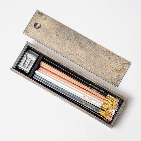 Blackwing Rustic Box Set w/Mixed Pencils