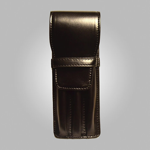 Three Pen Hand-stitched Leather Case