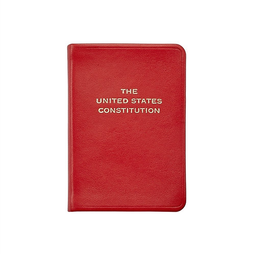 Mini United States Constitution in Red Leather