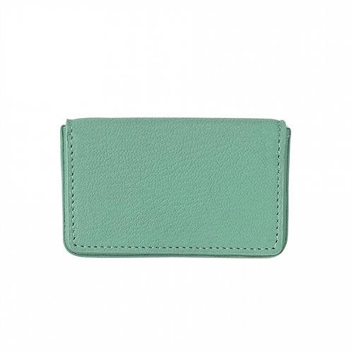 Hard Business Card Case Goatskin Leather