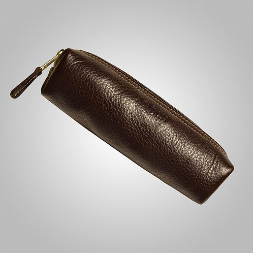 Hand Stitched Leather Pouch Large