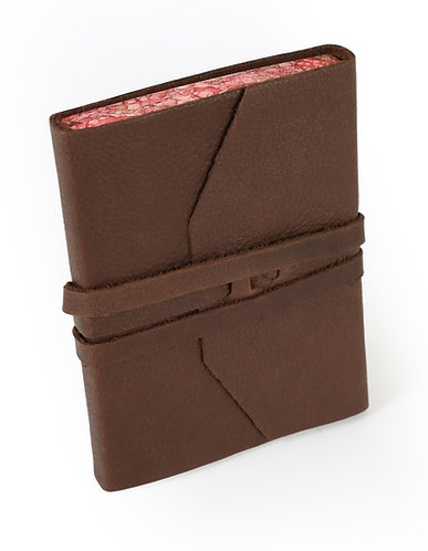 Brown Leather Wrap Journal From Rome