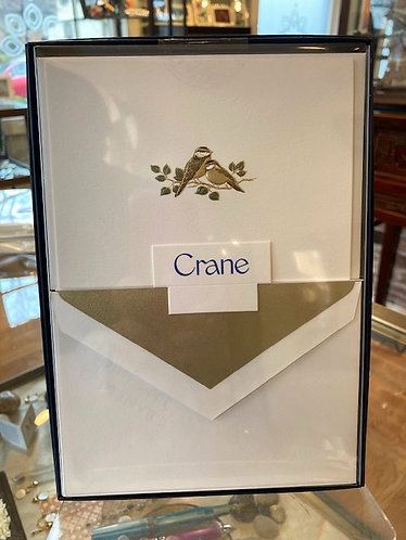 Crane Hand Engraved Love Bird Notes