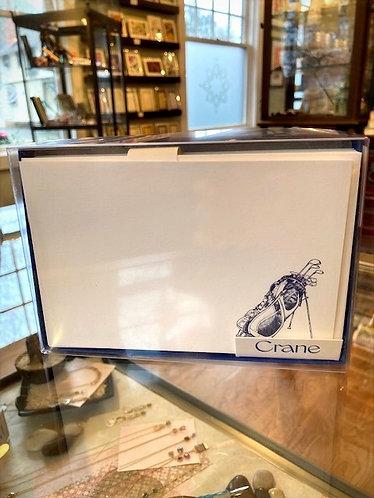 Crane Engraved Gold Bag Cards