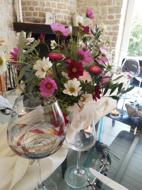 Centre de Table fineart De Fleurs en Couleurs