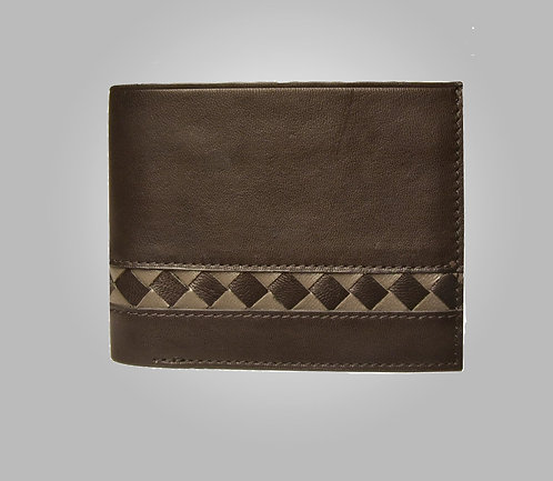 Walker Hand-Stitched Leather Wallet