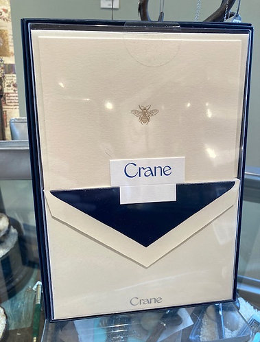 Crane Engraved Bee Notes w/Blue Liner