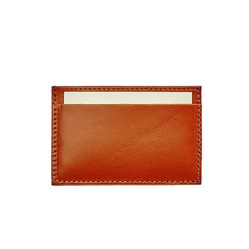 Graphic Image Slim Design Vachetta Leather Card Case