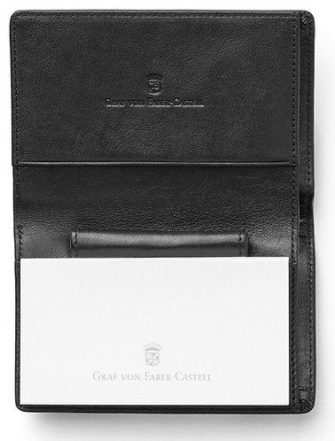 Graf Von Faber Castell Black Leather Notepad & Pen Holder