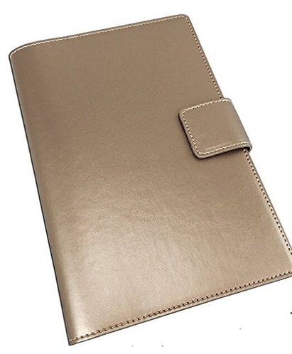 Italian Leather Snap Journal in Gold