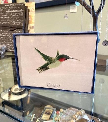 Crane Brushstroke Hummingbird Notes
