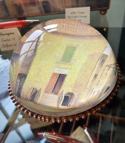 Hand Decoupaged Glass Paperweight