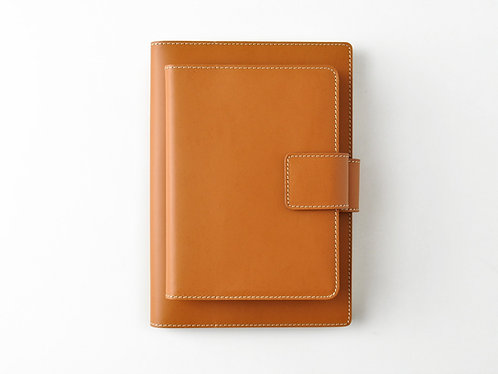 Refillable Snap Journal of Recycled Leather