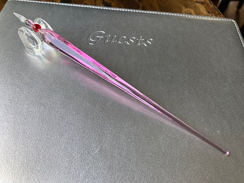 Hand Blow Glass Dipping Pen In Light Violet