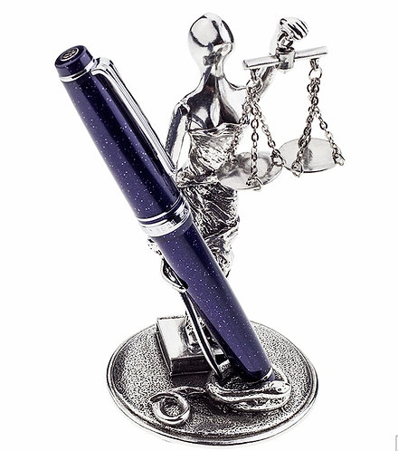 Scales Of Justice Pewter Pen Stand