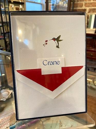 Cranes Hand Engraved Hummingbird Notes