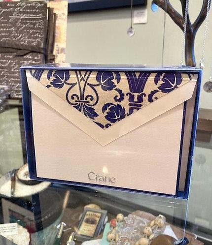 Crane Blue Bordered Regency Notes