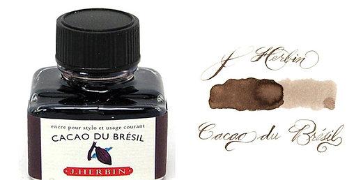 J. Herbin Bottle Ink Cacao Du Bresil
