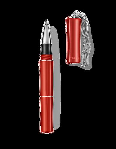 Tibaldi Bamboo Lipstick Red Rollerball w/Sterling Silver Tassel